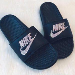 💎 CUSTOM Rhinestone Nike Slides